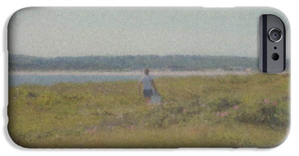 Mcentee Paintings iPhone Cases - Gooseberry Island Westport MA iPhone Case by Bill McEntee