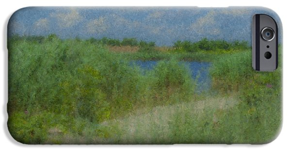 Mcentee Paintings iPhone Cases - Goosewing Farm #1 iPhone Case by Bill McEntee