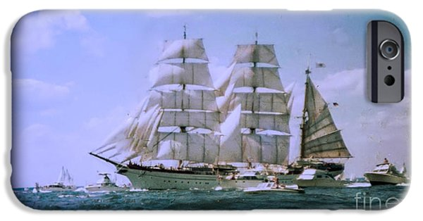 Tall Ship iPhone Cases - Gorch Fock Tall Ship iPhone Case by Thomas Marchessault