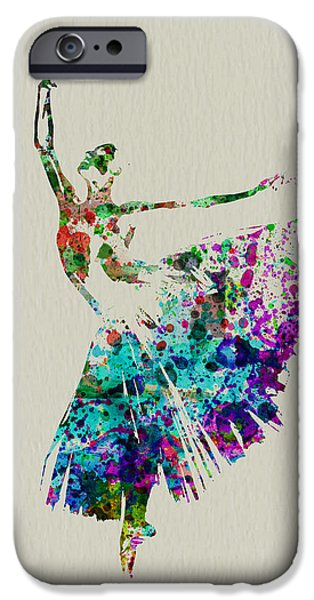 Relationship Paintings iPhone Cases - Gorgeous Ballerina iPhone Case by Naxart Studio
