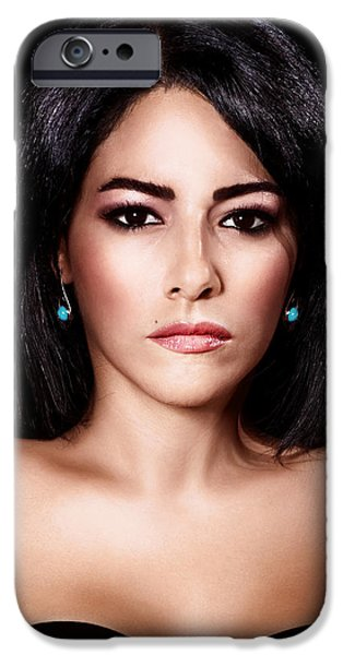 Gorgeous woman portrait iPhone Case by Anna Omelchenko