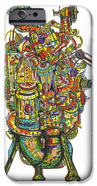 Etc. Drawings iPhone Cases - Got A Light iPhone Case by Robert Cawein