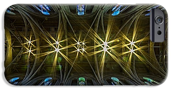 Bill Gallagher iPhone Cases - Grace Cathedral Starburst iPhone Case by Bill Gallagher