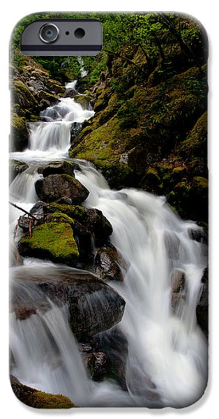 North Cascades iPhone Cases - Graceful Falls iPhone Case by Mike Reid