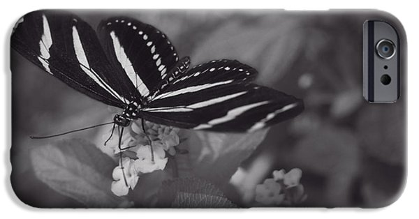 Blue Abstracts iPhone Cases - Graceful Gratitude - Monochrome iPhone Case by F Leblanc