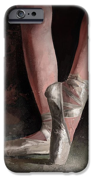 Ballerina Dancing iPhone Cases - Graceful Slippers iPhone Case by Steve Goad