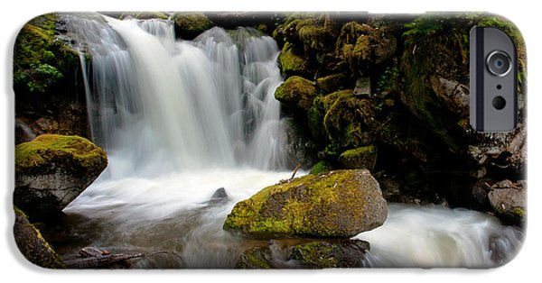 North Cascades iPhone Cases - Graceful Steps iPhone Case by Mike Reid