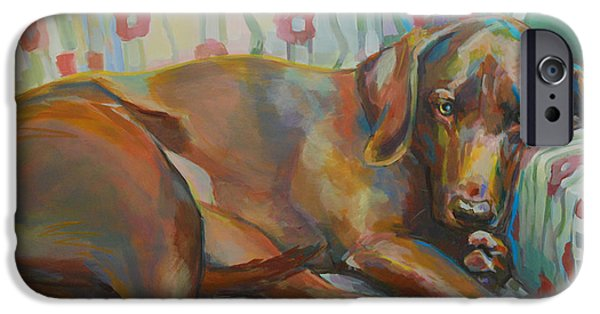 Chocolate Lab iPhone Cases - Graces Throne iPhone Case by Kimberly Santini