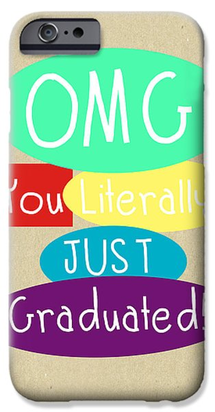 Graduation iPhone Cases - Graduation Card iPhone Case by Linda Woods