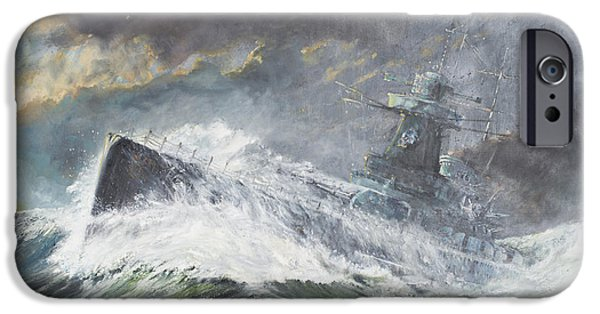 Battleship iPhone Cases - Graf Spee enters the Indian Ocean iPhone Case by Vincent Alexander Booth