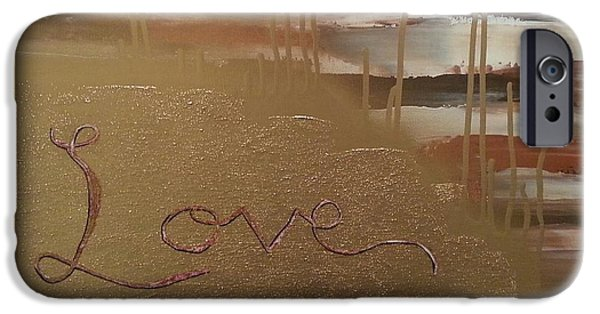 Gloss Varnish iPhone Cases - Graffiti Love iPhone Case by Brittany Houchin