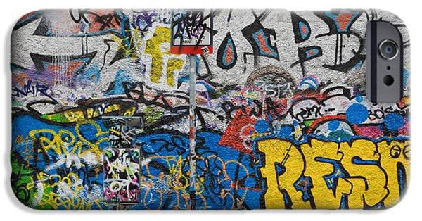 U2 iPhone Cases - Grafitti On The U2 Wall, Windmill Lane iPhone Case by Panoramic Images