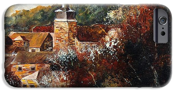 Village iPhone Cases - Graide Village Belgium iPhone Case by Pol Ledent