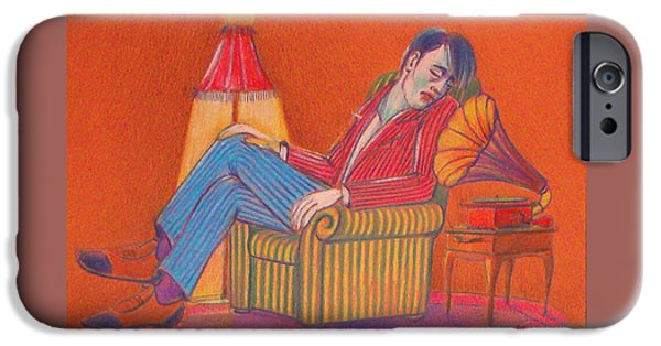 Furniture iPhone Cases - Gramophony iPhone Case by OvanezArt