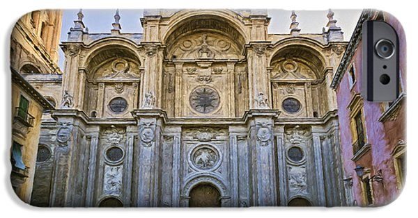Incarnation iPhone Cases - Granada Cathedral iPhone Case by Joan Carroll