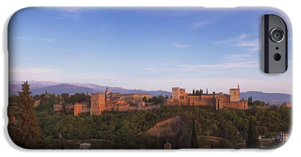 Snow iPhone Cases - Granada Panorama iPhone Case by Joan Carroll