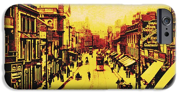 United iPhone Cases - Granby Street Leicester iPhone Case by Heidi De Leeuw