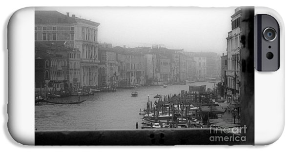 Charly iPhone Cases - Grand Canal on a Foggy Morning iPhone Case by Prints of Italy