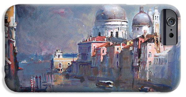 Venetian Canals iPhone Cases - Grand Canal Venice iPhone Case by Ylli Haruni