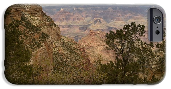 Grand Canyon iPhone Cases - Grand Canyon-6 iPhone Case by Deb Barchus