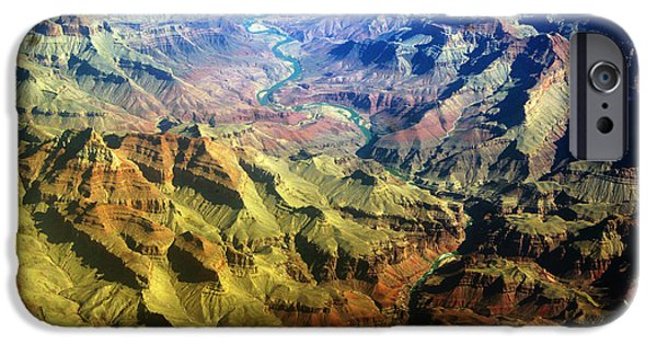 Grand Canyon iPhone Cases - Grand Canyon Aerial View iPhone Case by James BO  Insogna