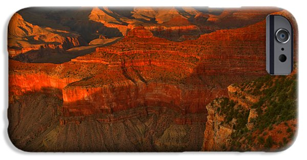 Grand Canyon iPhone Cases - Grand Canyon Light Show iPhone Case by Stephen  Vecchiotti
