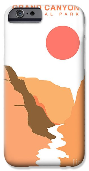 Grand Canyon Digital iPhone Cases - Grand Canyon National Park iPhone Case by Adam Asar