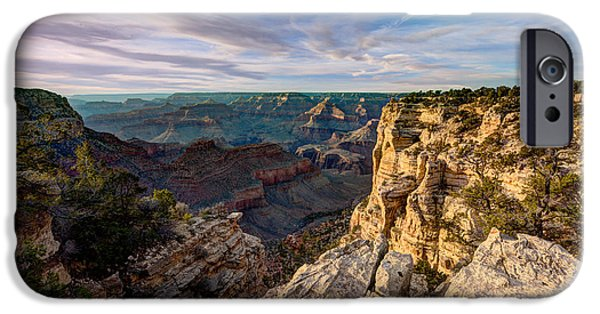 Grand Canyon iPhone Cases - Grand Canyon National Park Spring Sunset iPhone Case by Wayne Moran