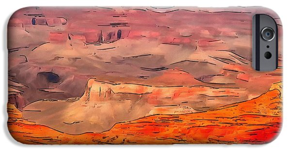 Grand Canyon Mixed Media iPhone Cases - Grand Canyon National Park Summer iPhone Case by Dan Sproul