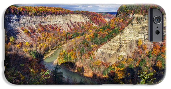 Nature Scene iPhone Cases - Grand Canyon Of The East iPhone Case by Mark Papke