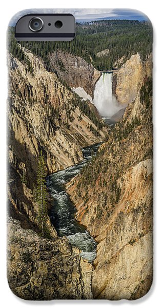 Grand Canyon iPhone Cases - Grand Canyon of the Yellowstone and Yellowstone Falls iPhone Case by Greg Nyquist