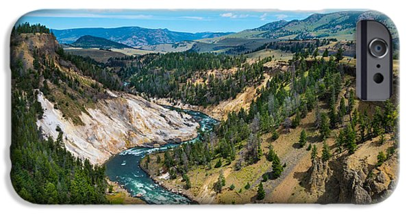 Pines iPhone Cases - Grand Canyon of Yellowstone iPhone Case by Joni Sue Thum