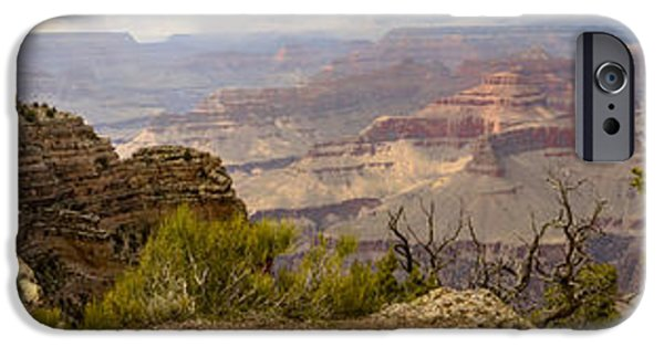 Grand Canyon iPhone Cases - Grand Canyon Panorama Powell Point iPhone Case by Deb Barchus
