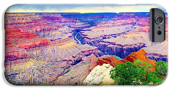 Grand Canyon iPhone Cases - Grand Canyon Pima Point iPhone Case by James O Thompson