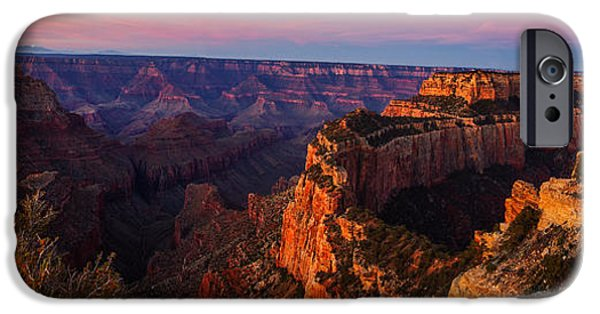 Grand Canyon iPhone Cases - Grand Canyon Sunrise Panoramic iPhone Case by Scott McGuire