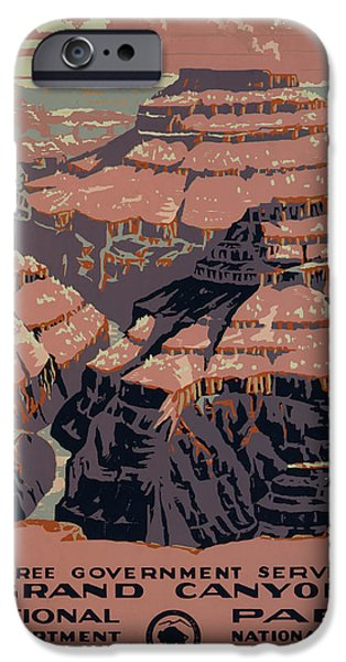 Grand Canyon Digital iPhone Cases - Grand Canyon iPhone Case by Unknown