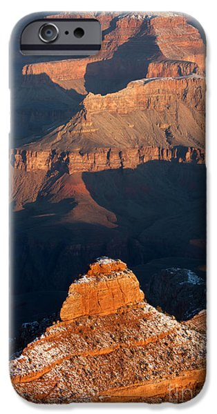 Wintertime iPhone Cases - Grand Canyon Yaki Point iPhone Case by Clarence Holmes