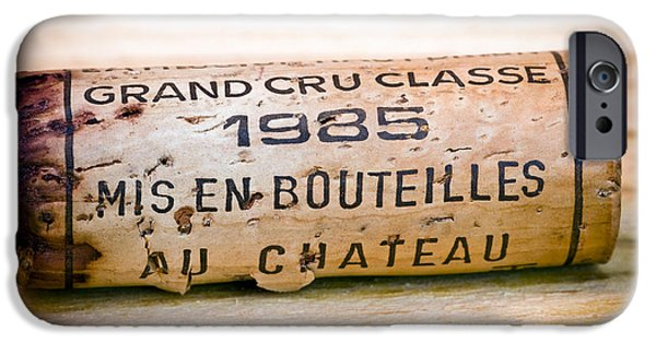 Red Wine iPhone Cases - Grand Cru Classe Bordeaux Wine Cork iPhone Case by Frank Tschakert