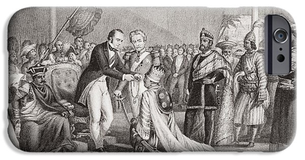 Nineteenth iPhone Cases - Grand Durbar At Cawnpore After The iPhone Case by Ken Welsh