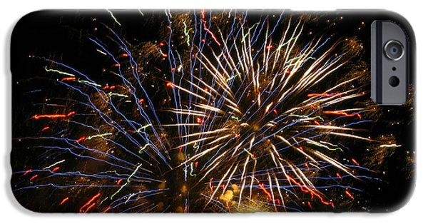4th July Photographs iPhone Cases - Grand Finale iPhone Case by M E Cieplinski