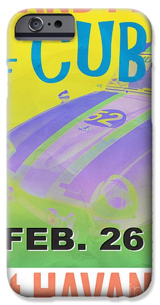 Rally iPhone Cases - Grand Prix of Cuba Rally Poster iPhone Case by Edward Fielding