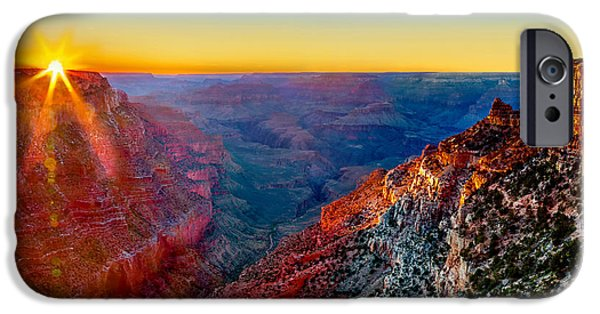 Rock Formation iPhone Cases - Grand Sunset iPhone Case by Az Jackson