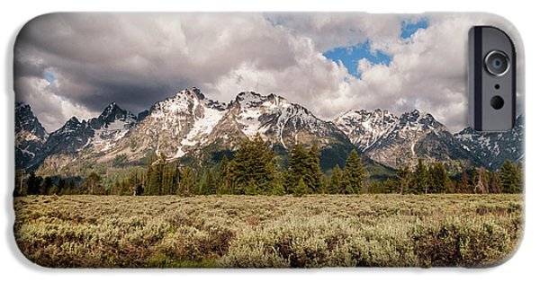 Snow iPhone Cases - Grand Tetons iPhone Case by Brian Harig