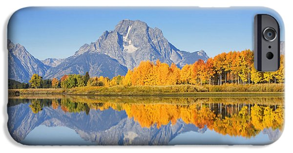 Moran iPhone Cases - Grand Tetons in Autumn iPhone Case by Ron Dahlquist - Printscapes