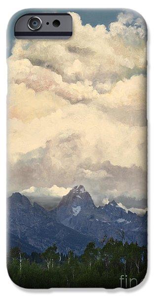 Grand Tetons  Sky iPhone Case by Suzette Kallen
