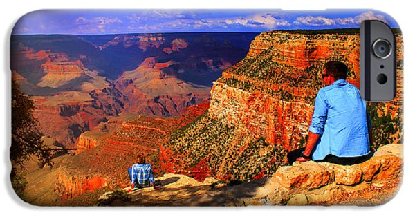 Ledge iPhone Cases - Grand View of the Grand Canyon iPhone Case by Olahs Photography