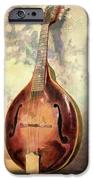 Musical iPhone Cases - Grandaddys Mandolin iPhone Case by Andrew King