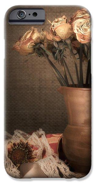 """""""indoor"""" Still Life iPhone Cases - Grandmas Roses iPhone Case by Wim Lanclus"""