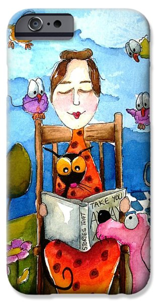 Grandma's Story Time iPhone Case by Lucia Stewart