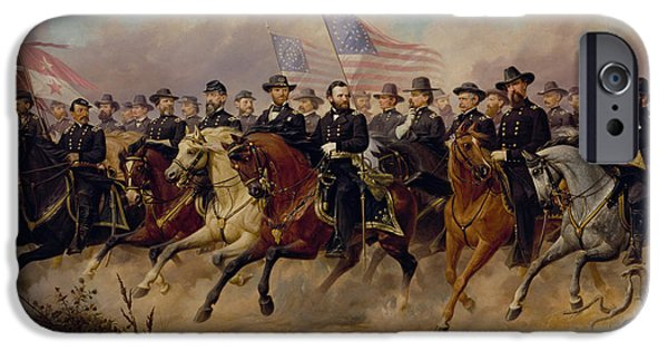 U.s Heroes iPhone Cases - Grant and His Generals iPhone Case by War Is Hell Store